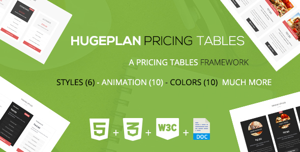 CodeCanyon Hugeplan A Corporate Pricing Tables Framework 19583806