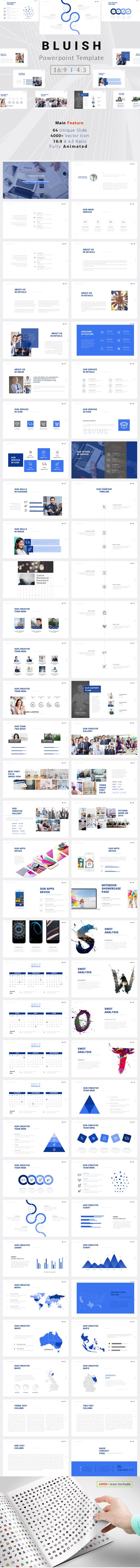 Bluish PowerPoint Template (PowerPoint Templates)
