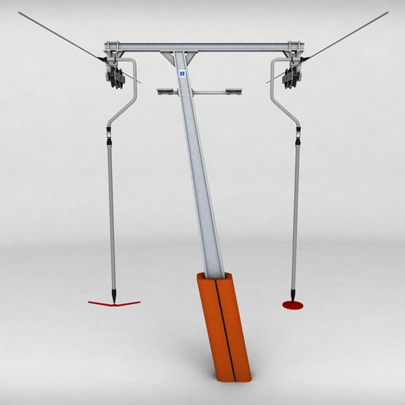 Ski lift pole rod 2 - 3DOcean Item for Sale