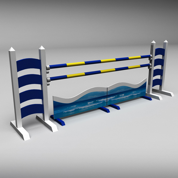 Horse jump obstacle 06 - 3DOcean Item for Sale