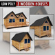 Wooden Houses Pack low poly