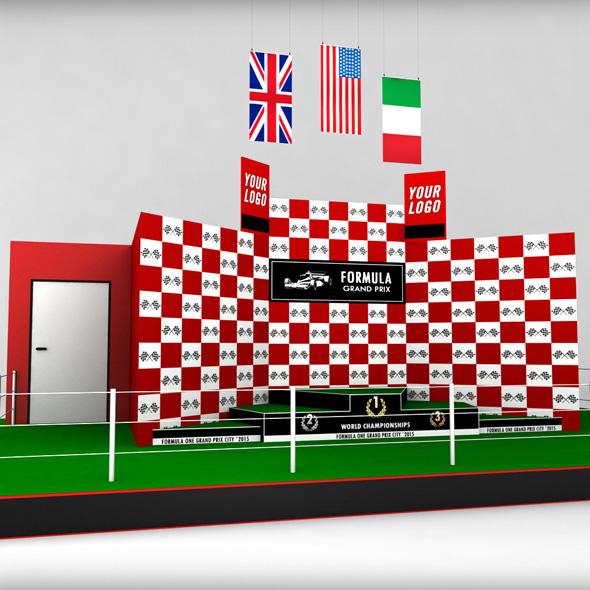 Formula One sport podium - 3DOcean Item for Sale