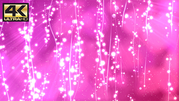 VideoHive Pink Abstract Lines&Particles BG 4K 19584716