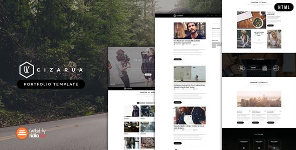 Cizarua – Responsive One Page Portfolio Template (Portfolio) images