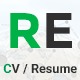 RE - CV / Portfolio Responsive Template