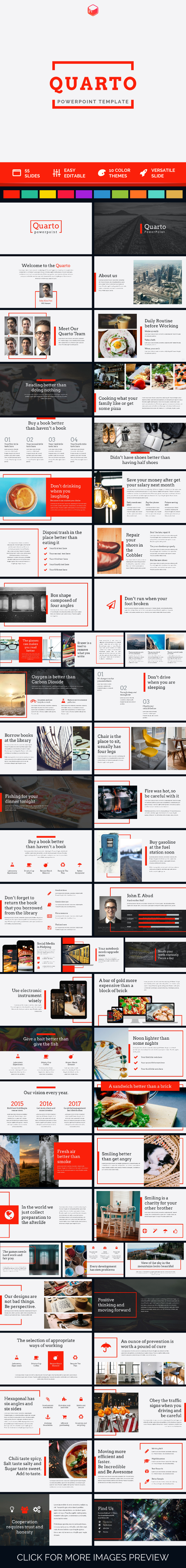 Quarto - PowerPoint Template (PowerPoint Templates)