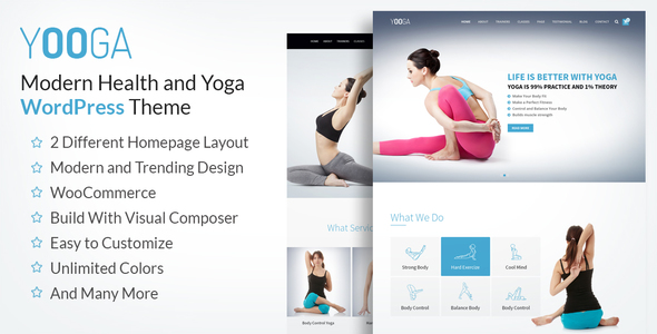 Yooga- Yoga, Fitness &amp Fitness center WordPress Theme (Well being &amp Beauty)