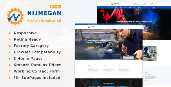 Nijmegan - Factory & Industrial Business Template