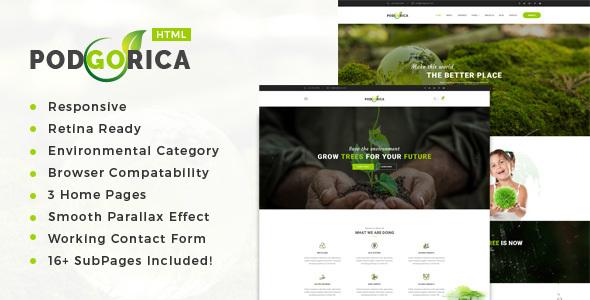 Podgorica – Atmosphere / Non-Profit HTML Template (Environmental)