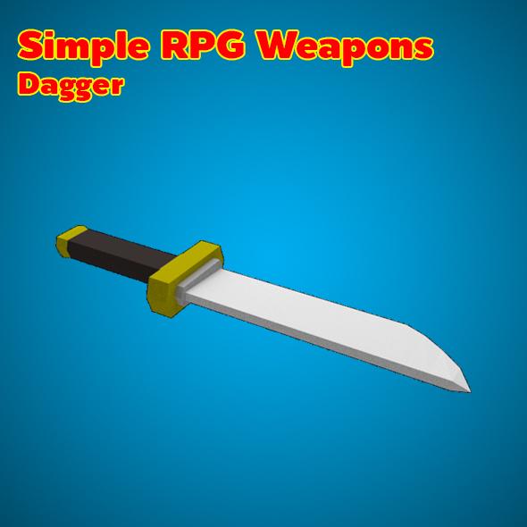 3DOcean Simple RPG Weapons Dagger 19586187