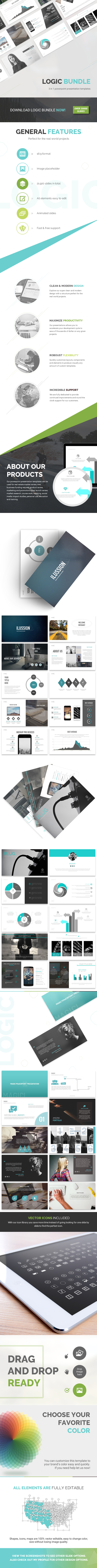 4in1 Powerpoint Bundle (Powerpoint Templates)