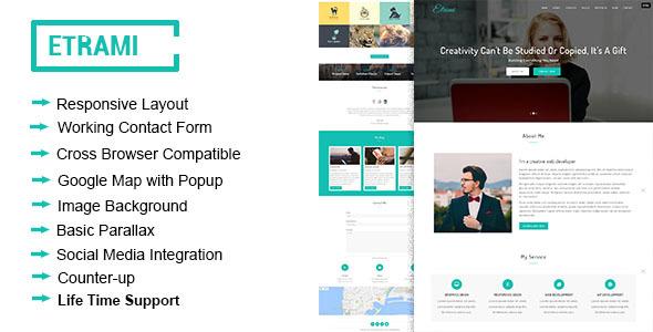 Etrami - Onepage Portfolio HTML Template