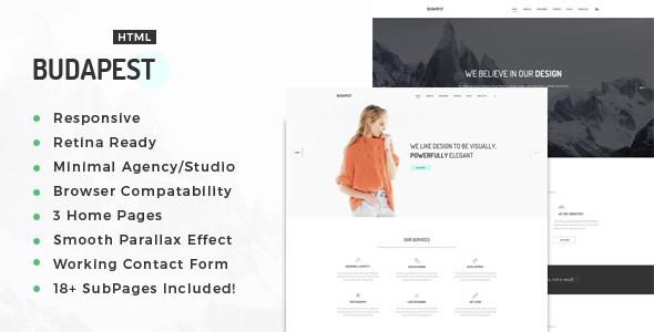 Budapest – Minimal Multi-Purpose Portfolio HTML Template (Portfolio) images