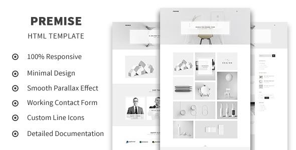 Premise – Creative and Minimal Portfolio HTML5 Template (Portfolio) images