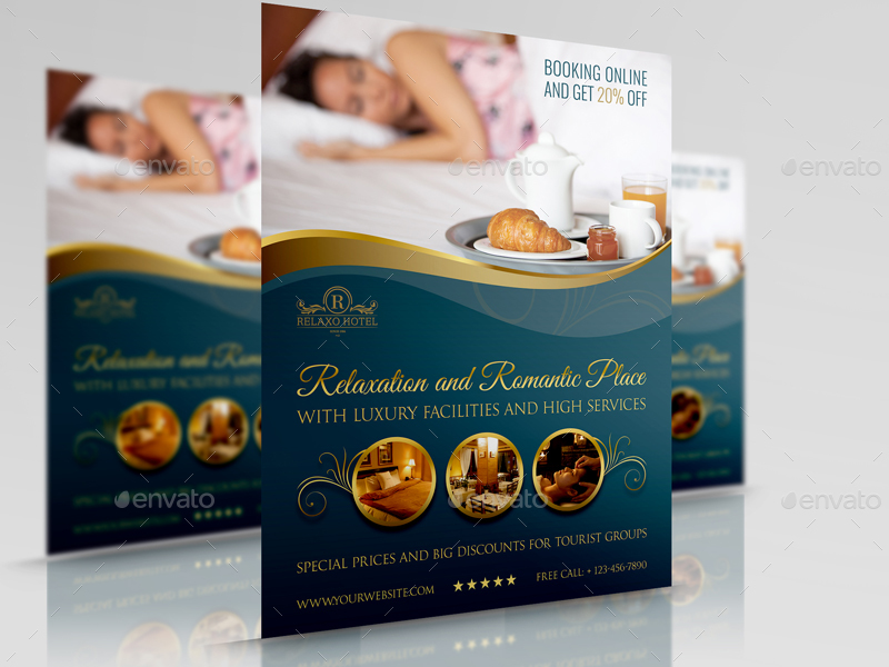 Hotel Flyer Template Vol2 by OWPictures – Hotel Brochure Template