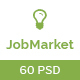 JobMarket - Job Portal PSD Template (Multipurpose)