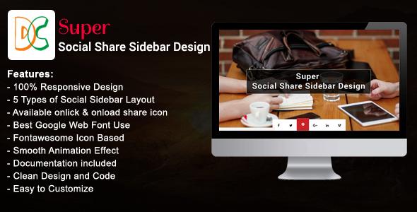 Super - Social Share Sidebar - CodeCanyon Item for Sale