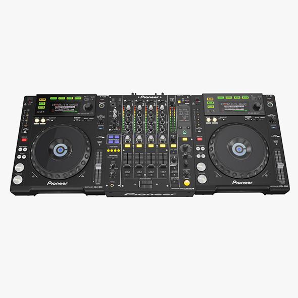DJ Set Pioneer 850 - 3DOcean Item for Sale