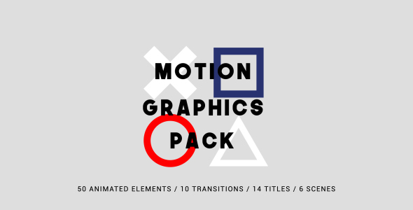 Motion Graphics Pack - After Effects Template | VideoHive ...