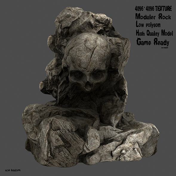 rock skull - 3DOcean Item for Sale