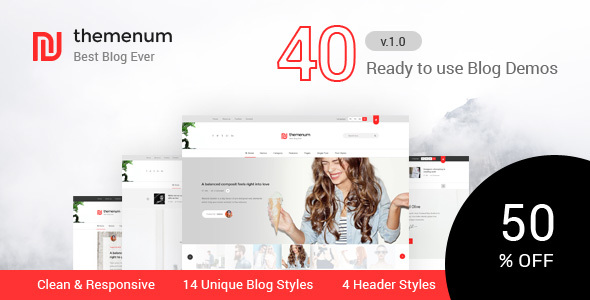 Themenum - Blog HTML Template with 40+ Demos