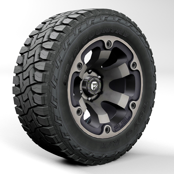 Off road wheel and tire Toyo RT - 3DOcean Item for Sale