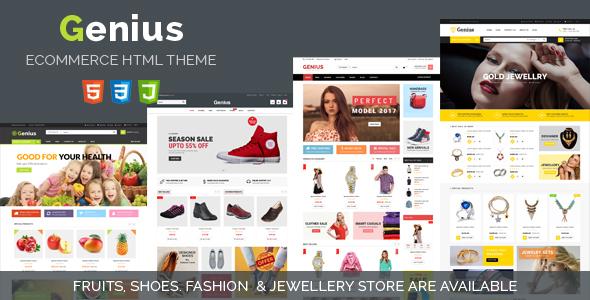 Genius | Responsive Ecommerce HTML5 Template