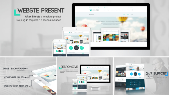 website presentation websites envato videohive after effects