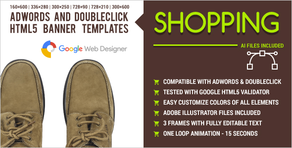 Download Shopping - AdWords and DoubleClick HTML5 Banner Templates