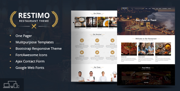 Restimo | A Premium Restaurant, Cakes and Coffee Shop Template