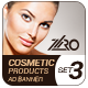 Cosmetic Product Ad Banners Set3