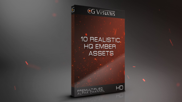 VideoHive 10 Realistic Ember Assets 19573134