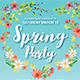 Super Spring Party Flyer Template