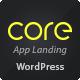 Core - Responsive App Landing WordPress Theme