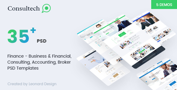 Consultech | Multipurpose Business & Financial, Consulting, Accounting, Broker Psd Templates