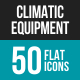 Climatic Equipment Flat Multicolor Icons