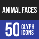 Animal Faces Glyph Icons