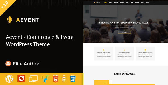 Image of Aevent - Conference & Event WordPress Theme