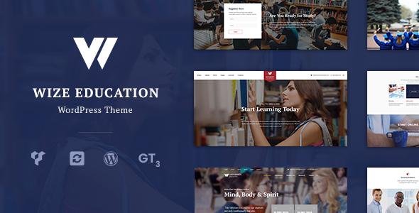 Фото Wordpress премиум шаблон  Education | Courses & Events LMS WordPress Theme - WizeEdu — 1.  large preview