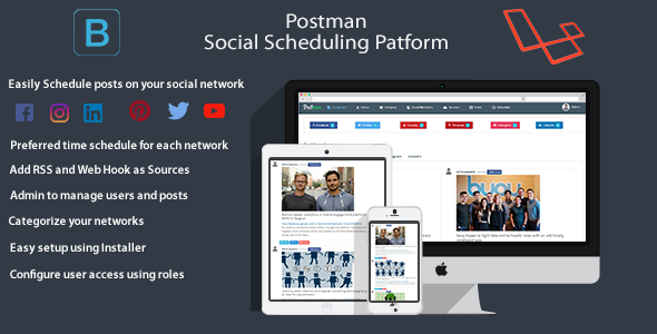 Postman(Facebook/Twitter/Youtube/PInterest/Instagram/LinkedIn) – Scheduling Platform (Social Networking) images