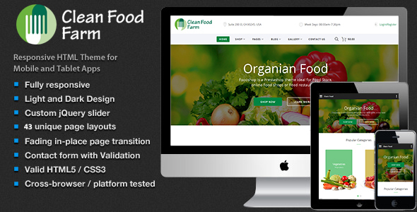 Meals – Organic Retailer Ecommerce HTML Template (Retail)