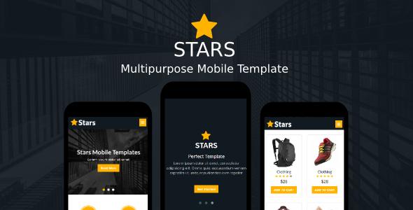 Stars – Multipurpose Mobile Template (Mobile) images