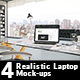 4 Realistic Laptop Mock-ups