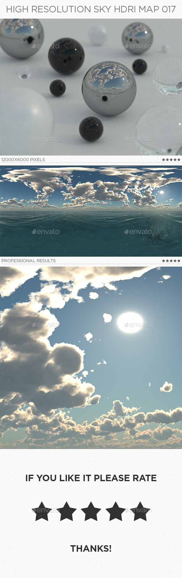 High Resolution Sky HDRi Map 017 - 3DOcean Item for Sale