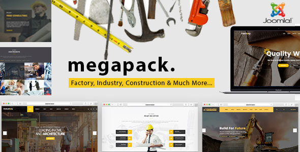 Mega Pack - Factory, Industry, Construction Joomla Template