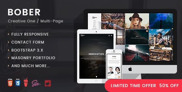 BOBER | Inventive Responsive Minimalistic HTML Template (Inventive)