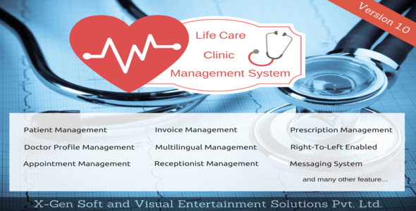 xGen Life Care Clinic Management System (PHP Scripts) images