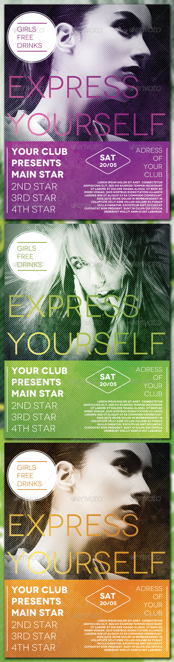 Graphic River Express Yourself Flyer Print Templates -  Flyers 1921832