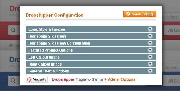 Dropshipper Magento Theme - Dropshipper Magento Theme Admin Options