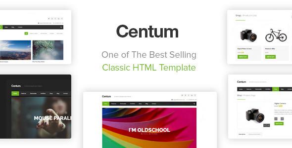 Centum - Responsive HTML Template Screenshot